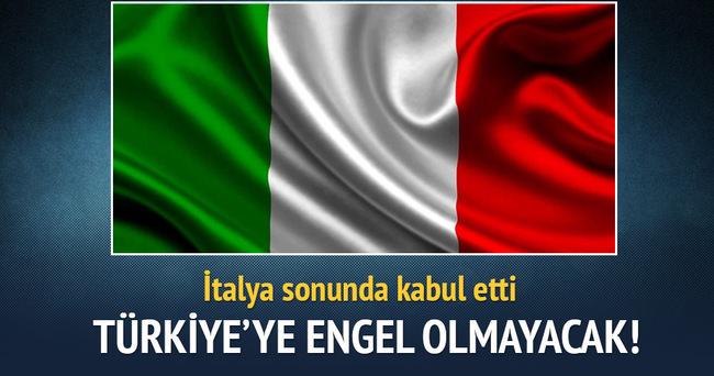 İtalya sonunda kabul etti