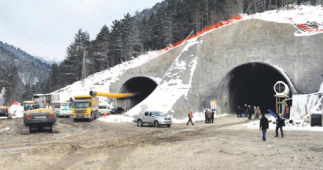 Ilgaz Tüneli'nde sona gelindi