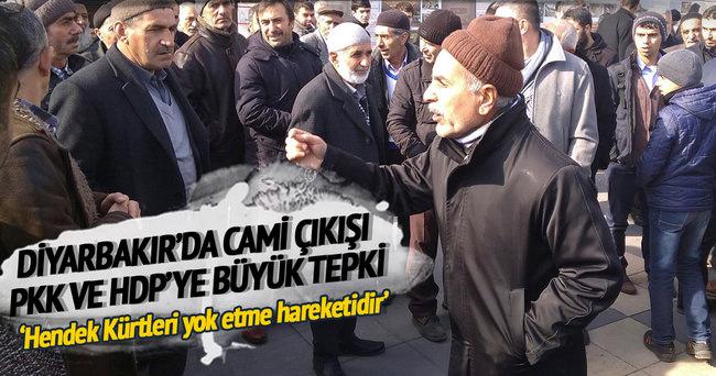 Diyarbakır'da vatandaş HDP ve PKK'ya isyan etti