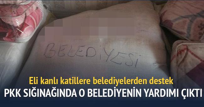 PKK deposundan DBP'li belediyenin yardımı çıktı