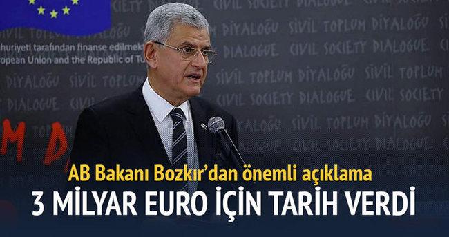 Bozkır 3 milyar euro için tarih verdi