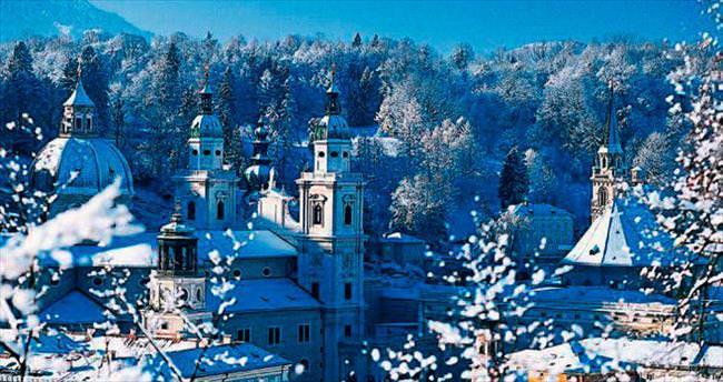 Mozart'ın şehrinde kayak keyfi