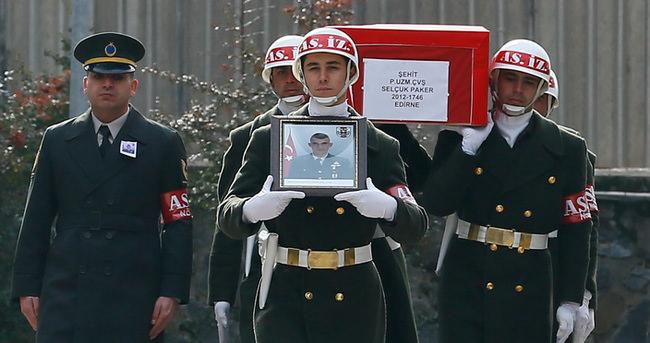 Şehit Selçuk Paker için Diyarbakır'da tören düzenlendi