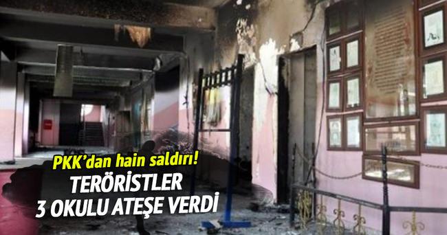 PKK Şırnak'ta 3 okul yaktı!