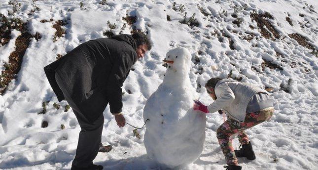 Muğlalıların kar sevinci