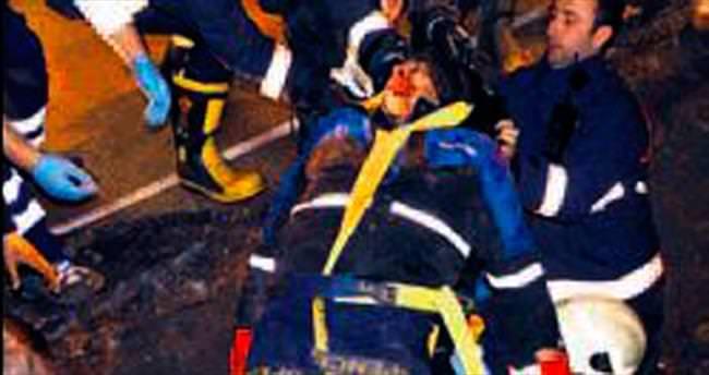 Çankaya'da 1 işçi göçük altında kaldı