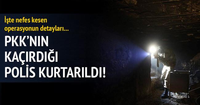 PKK'nın kaçırdığı polis kurtarıldı!