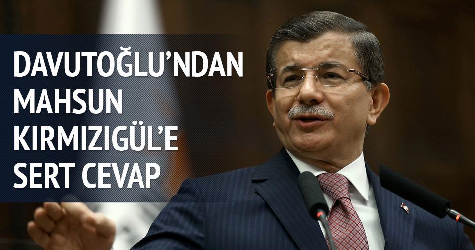 Başbakan Davutoğlu'ndan Mahsun Kırmızıgül'e cevap