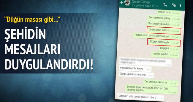 Şehidin duygulandıran Whatsapp mesajları!