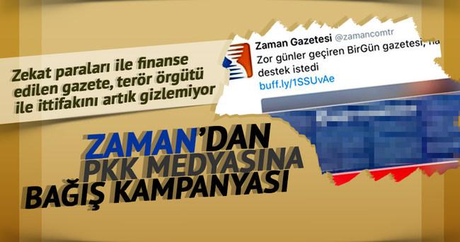 Zaman'dan PKK medyasına destek!