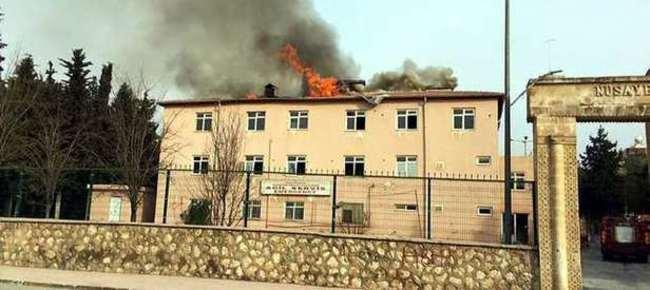 PKK Nusaybin'de hastaneyi ateşe verdi