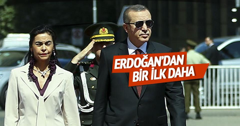 Erdoğan'dan bir ilk daha