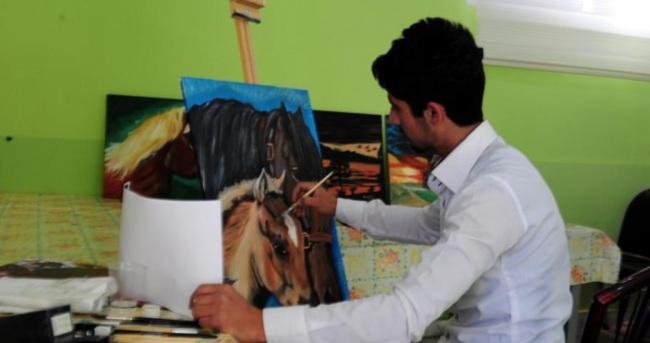 Bitlisli ressamın hayali gerçek oldu