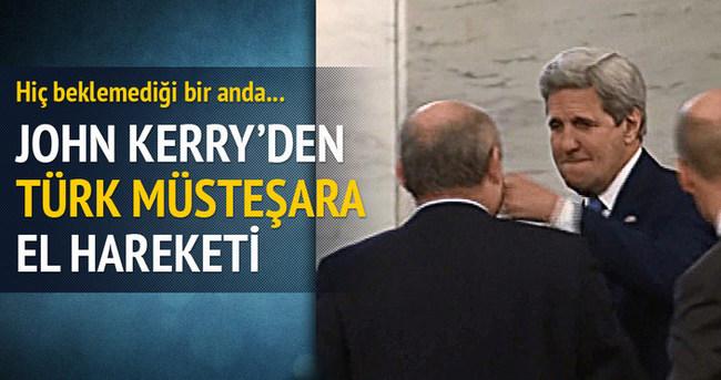 John Kerry'den Sinirlioğlu'na el hareketi