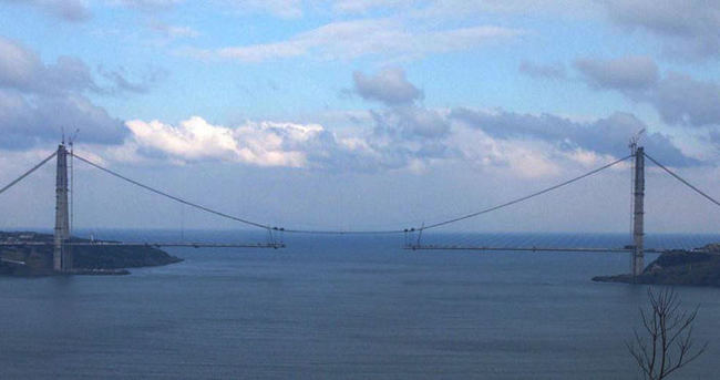 3'üncü köprüye 247 metre kaldı
