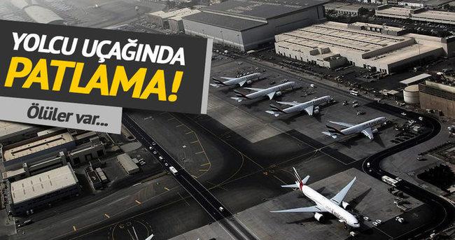 Yolcu uçağı patlama: 2 ölü