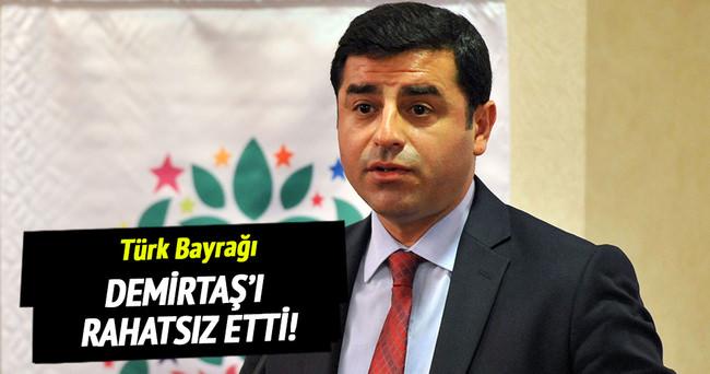Sur'a asılan Türk bayrağı Demirtaş'ı rahatsız etti