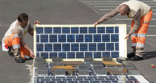 Kaldırımlara güneş paneli döşenecek