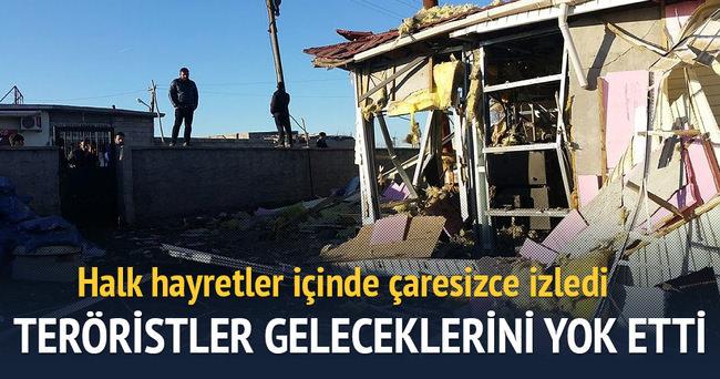PKK'lı teröristler okulu havaya uçurdu