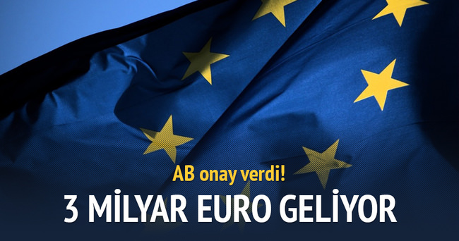 AB 3 milyar euroluk yardımı onayladı