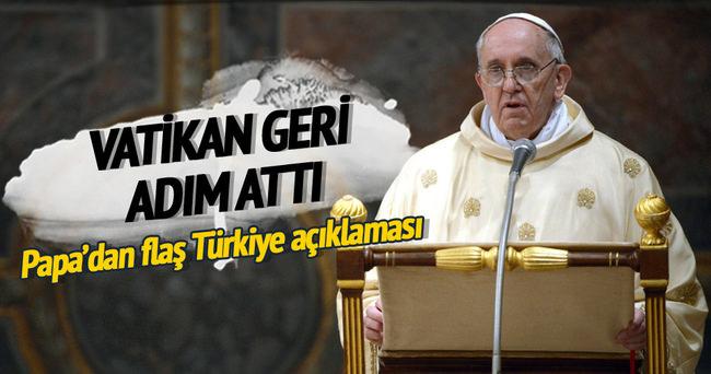 Vatikan geri adım attı