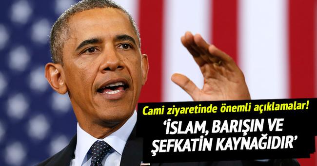 Obama'dan cami ziyaretinde önemli açıklamalar!