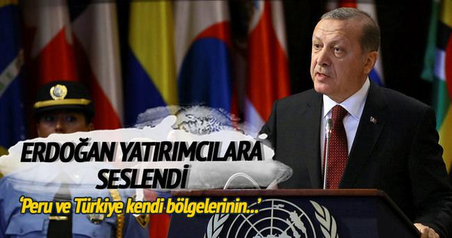 Cumhurbaşkanı Erdoğan Peru'da konuştu
