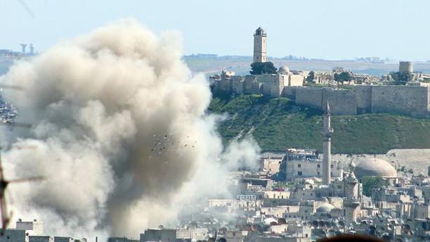 Halep'te hava operasyonları arttı