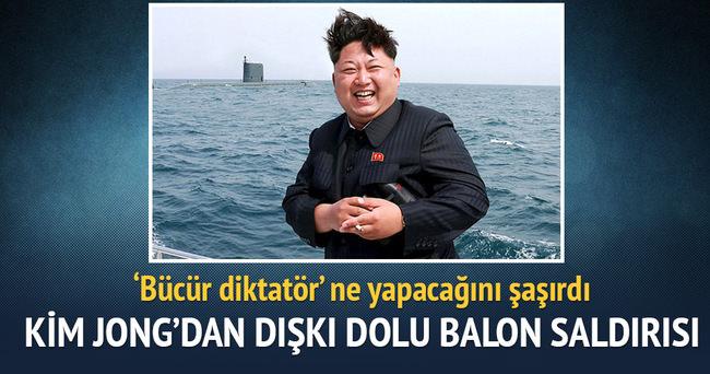 Kim Jong'dan 'dışkı' dolu balon saldırısı!