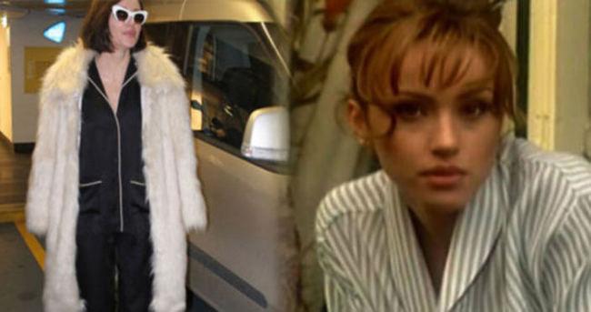 Gülşen pijamasıyla sokağa çıktı