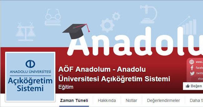 AÖF Facebook sayfası AÖF Anadolum açıldı. Yoksa sınav sonuçları açıklanıyor mu?
