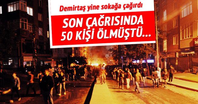 Selahattin Demirtaş halkı sokağa çağırdı!
