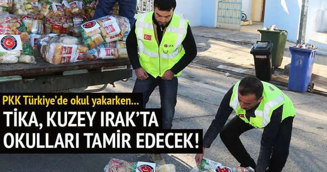 TİKA Erbil'de 17 okulun onarımını yapacak