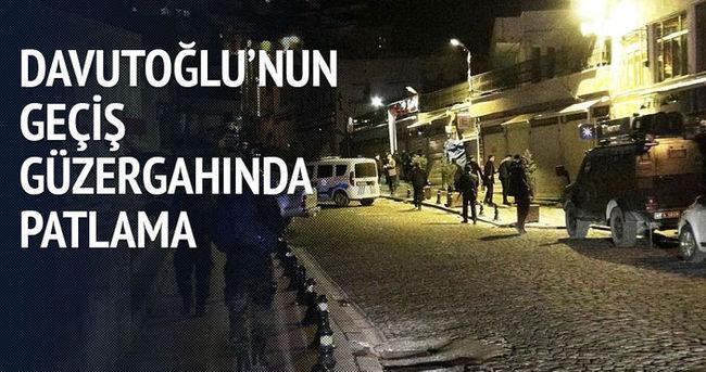 Davutoğlu'nun geçiş güzergahında patlama