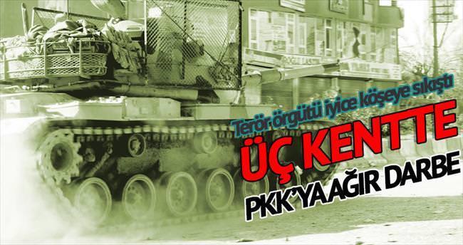 PKK'ya üç kentte büyük darbe