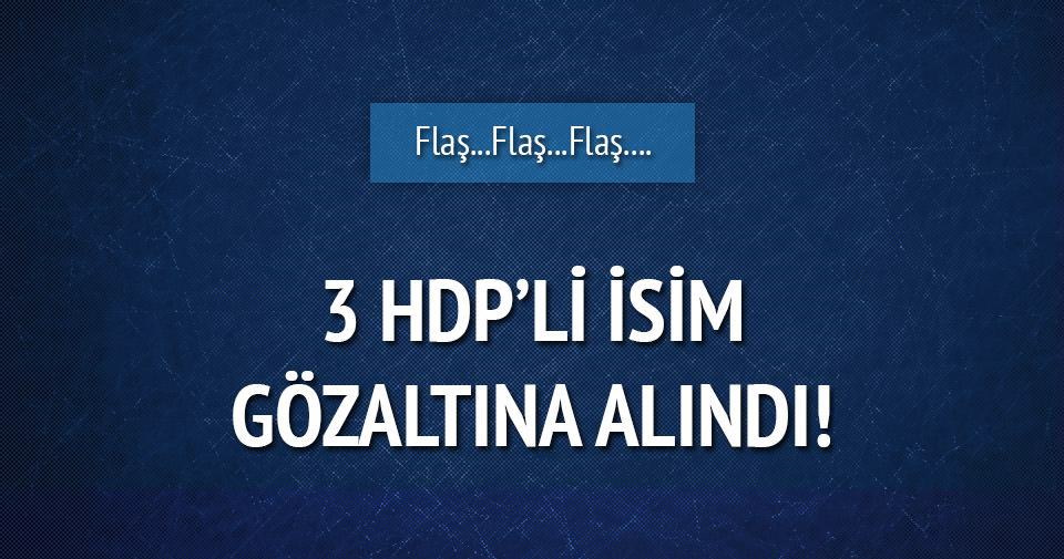 Van'da HDP yöneticisi 3 kişi gözaltına alındı