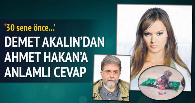Ahmet Hakan'a anlamlı cevap