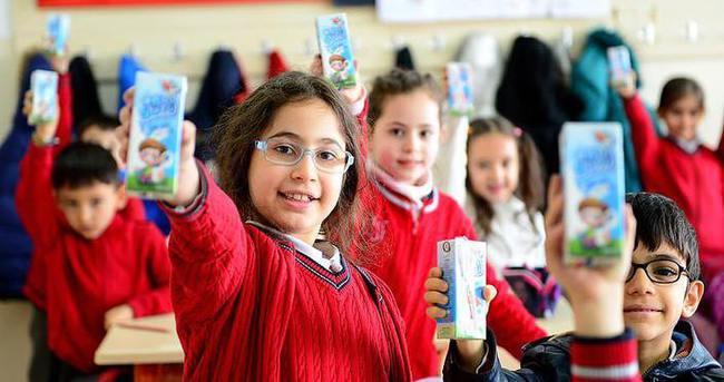 Okul sütünden milyonlarca öğrenci yararlanacak