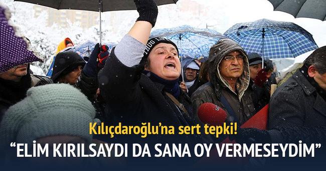 Kılıçdaroğlu'na sert tepki: 'Elim kırılsaydı da oy vermeseydim'