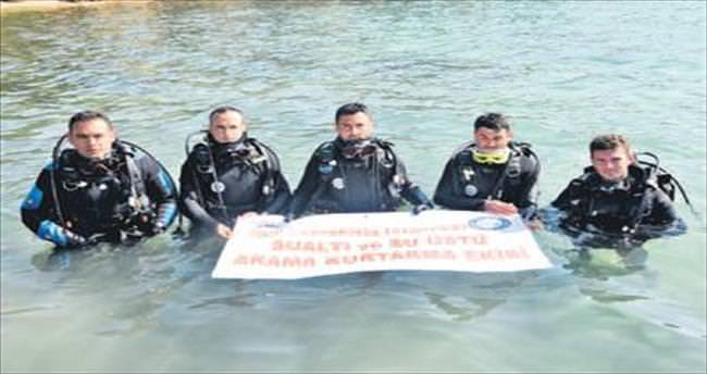 Ankara'nın dalgıçlarından eğitim desteği