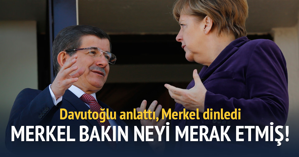 Başbakan Davutoğlu Merkel'i resmi törenle karşıladı