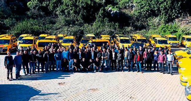 Antalyalı taksicilerin dayanışma buluşması