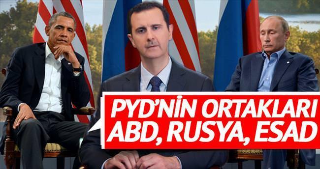 PYD'nin ortakları ABD, Rusya ve Esad
