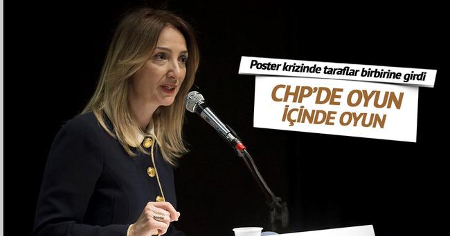 CHP'deki poster krizinde taraflar birbirine girdi