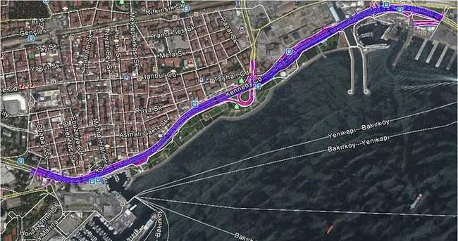 Bakırköy sahil yolu Avrasya Tüneli'yle uyumlu hale geliyor