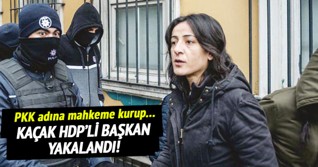 Kaçak HDP'li Başkan yakalandı!
