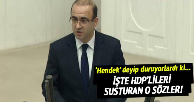 Taha Özhan'dan HDP'lileri susturan konuşma
