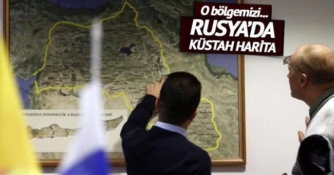 Moskova'da küstah harita!