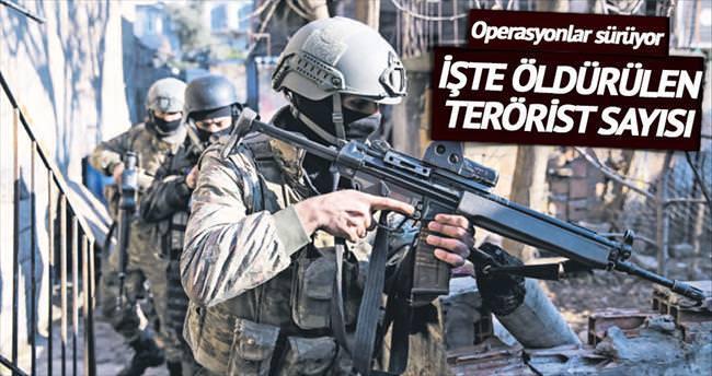39 terörist öldürüldü