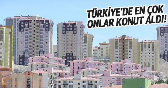 Türkiye'de en çok onlar konut aldı